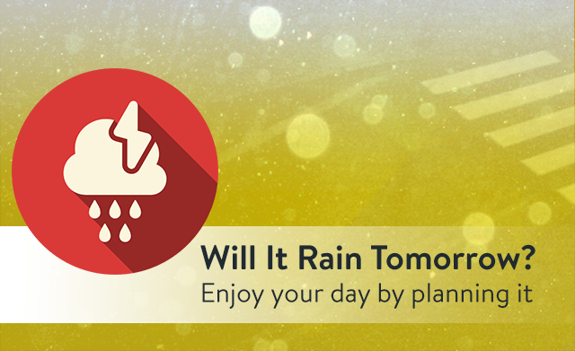 Will it rain tomorrow?: Get daily notifications about tomorrow's weather with useful weather data.