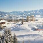 Luftbild von Allgäuer Berghof mit Blick auf Sonthofen