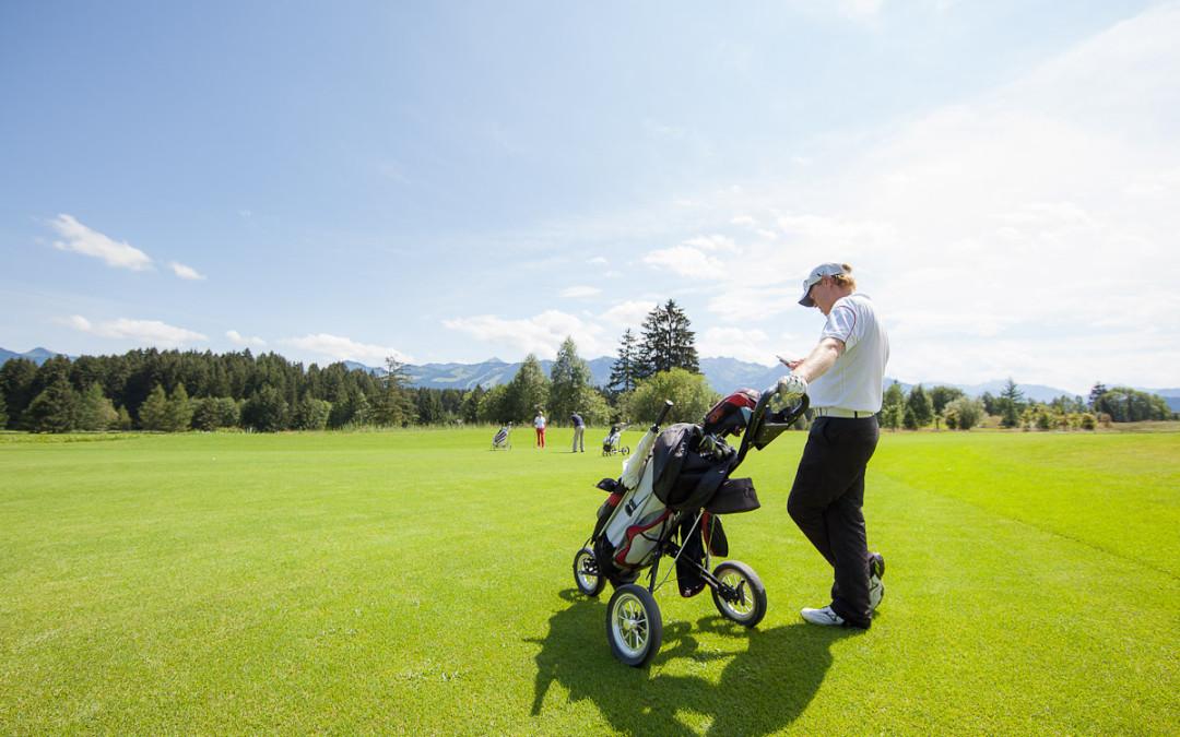 Fotoshooting für das Golfmagazin der Sonnenalp mit Dieter Thoma