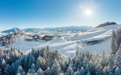 Winterluftaufnahmen für den Allgäuer Berghof in Ofterschwang