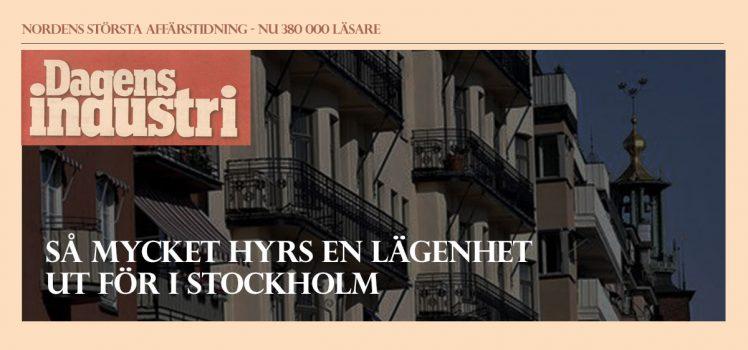 Dagens Industri kartlägger Stockholms marknadshyror