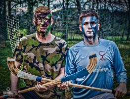 Blue flash Challenge 2018 Charity Celebrity  Shinty Match