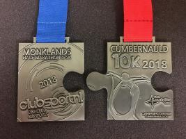 Monklands Half Marathon, Drumpellier 5k and Cumbernauld 10k Jigsaw Virtual Run