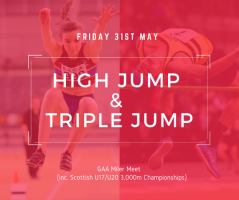 GAA Miler Meet High Jump & Triple Jump 31/05/2019