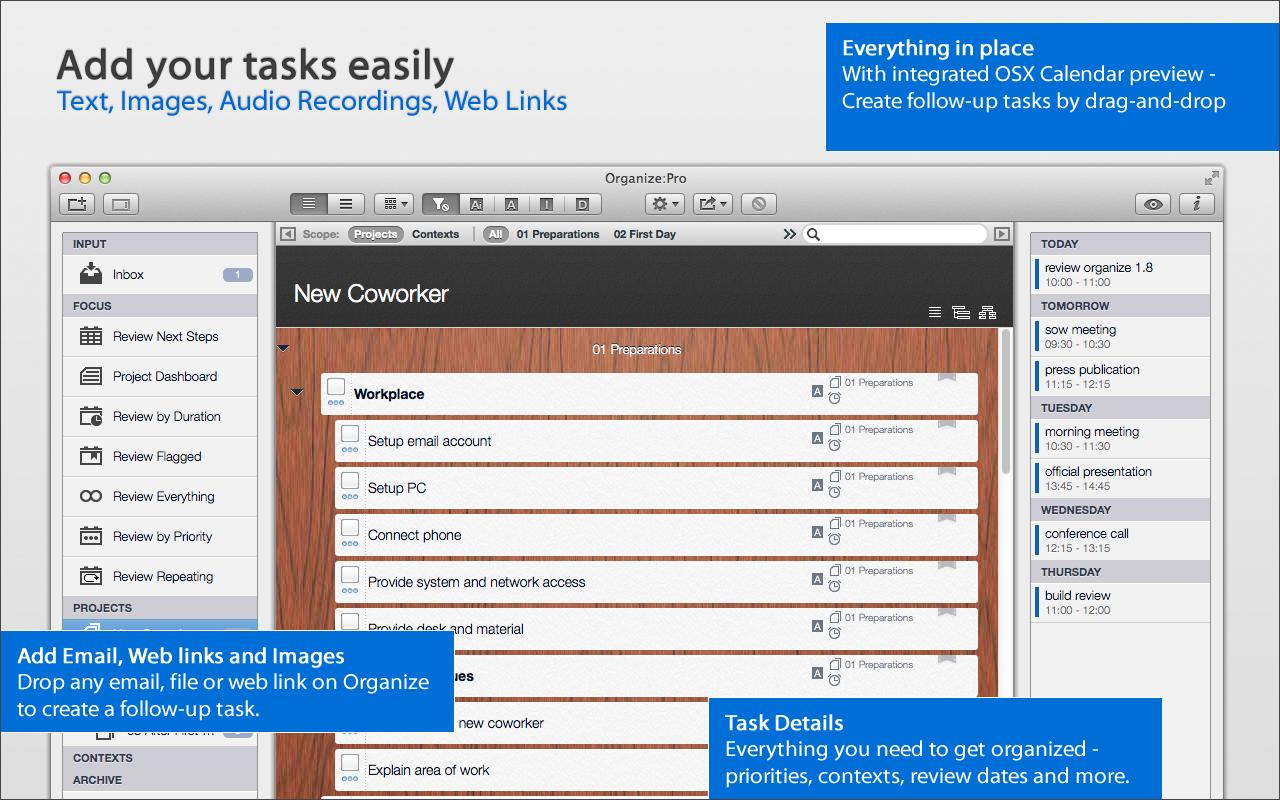 Taskfabric Organize:Pro | Showroom