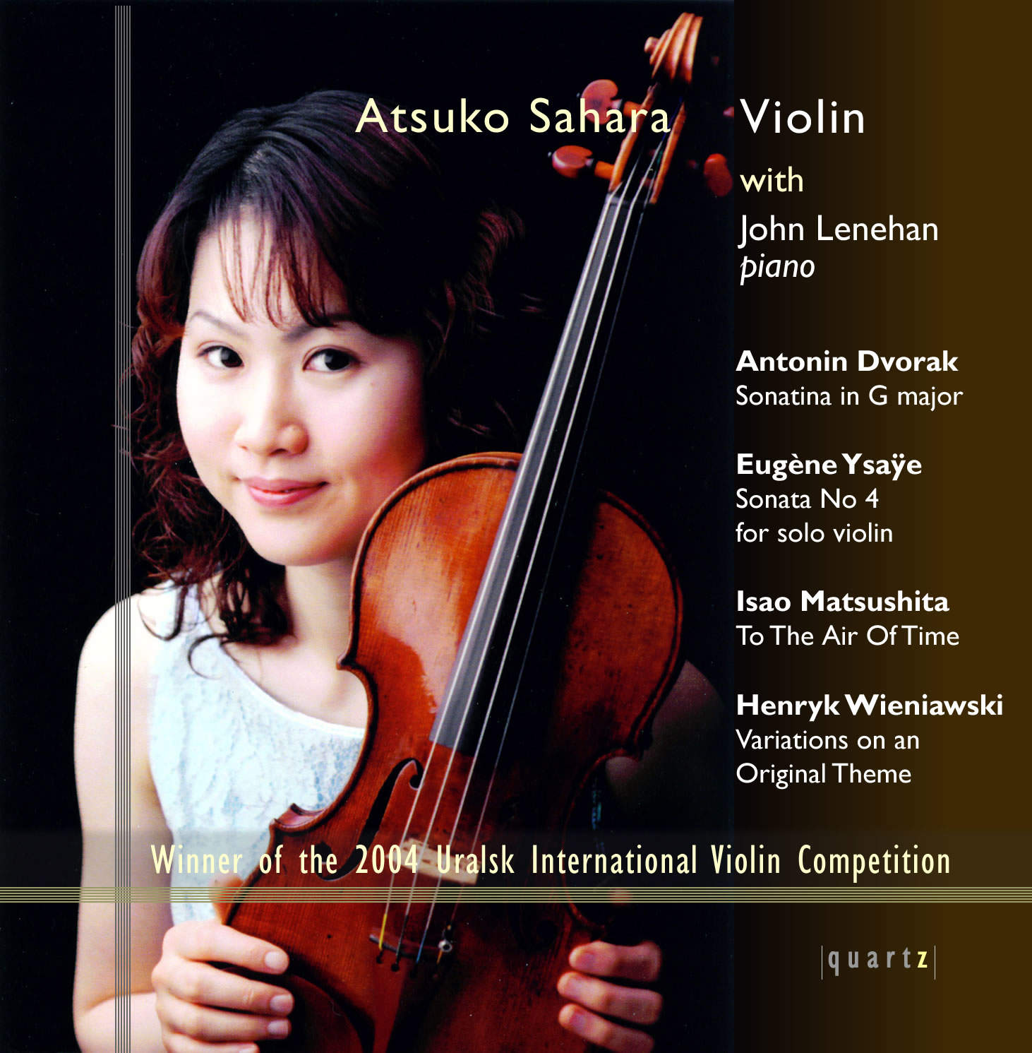 Atsuko Sahara (violin) and John Lenehan (piano)
