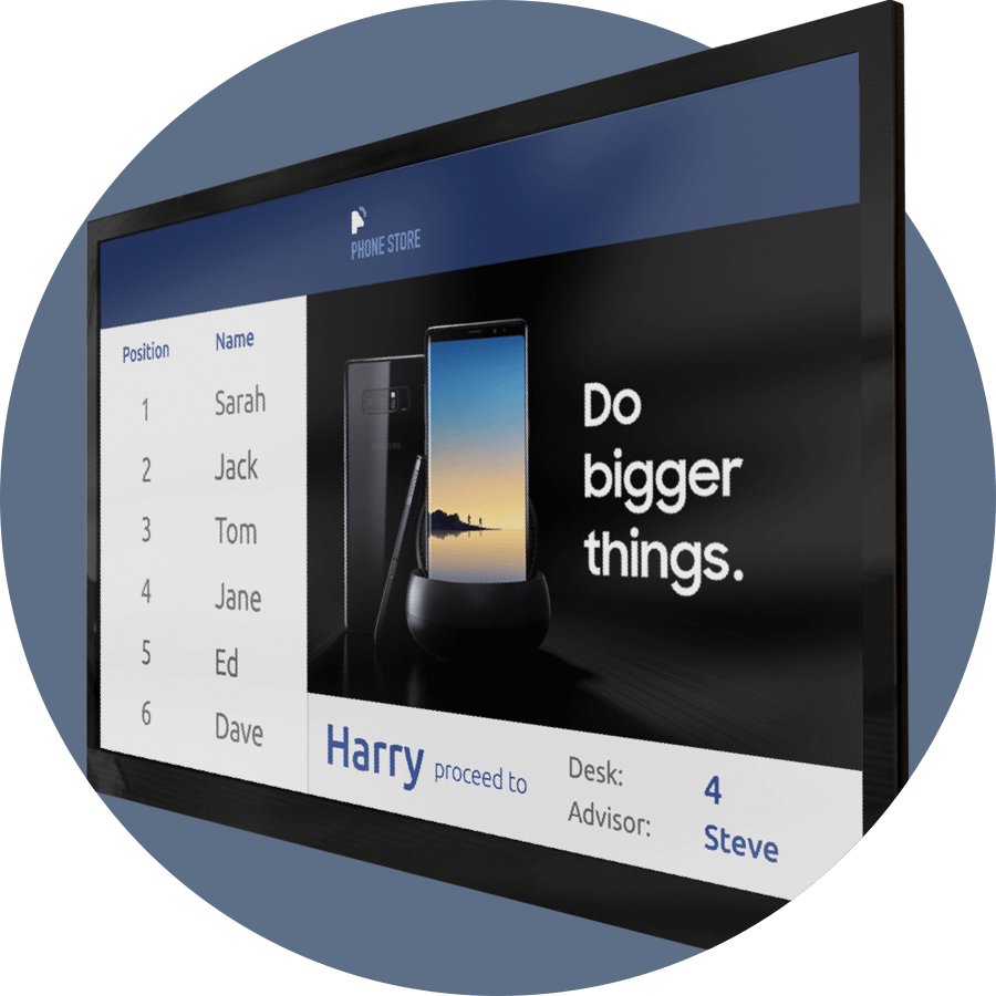 Digital Signage TV Displays Show Upcoming Appointment Bookings Qudini
