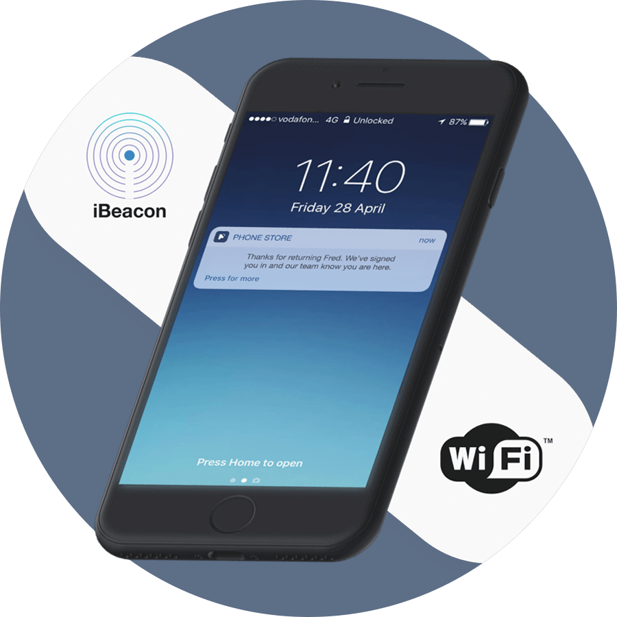 Appointment Check In Via IBeacons And WiFi Qudini