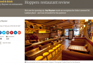Qudini client Hoppers featured in The Guardian