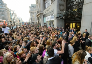 Queues outside Topshop