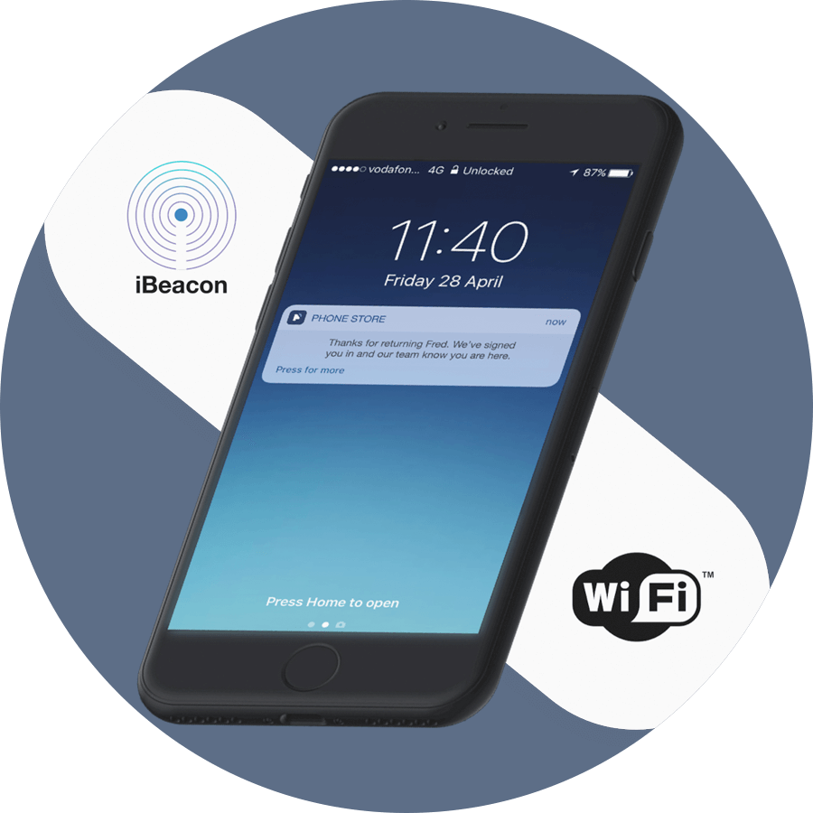 Sign In Via IBeacons And WiFi Qudini
