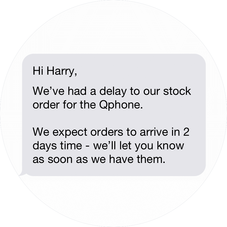 Text Customers With Stock Order Updates Qudini