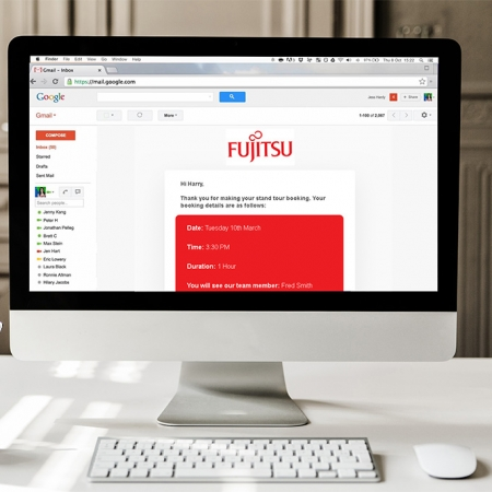 Fujitsu Appointment Booking Software Email