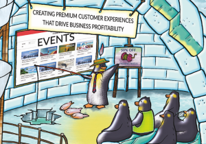 Event Management Software Retail In-Store Christmas Penguins Qudini