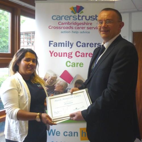 Ella raises awareness of young carers during Carers Week