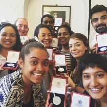 What an incredible week it has been! The #QueensYoungLeaders are very proud of their medals from HM The Queen @theroyalfamily #leadership #youth