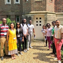 It's induction day at Cambridge for the #QueensYoungLeaders A chance to get to know one another, set expectations for the Residential and take part in some @leadingchangeuc team building with a treasure hunt #leadership #youth