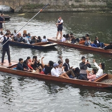 This morning the #QueensYoungLeaders have been thinking about how they can develop their own projects, as well as the legacy of the programme. Then it was time for a Cambridge tradition - punting! #leadership #youth #punting