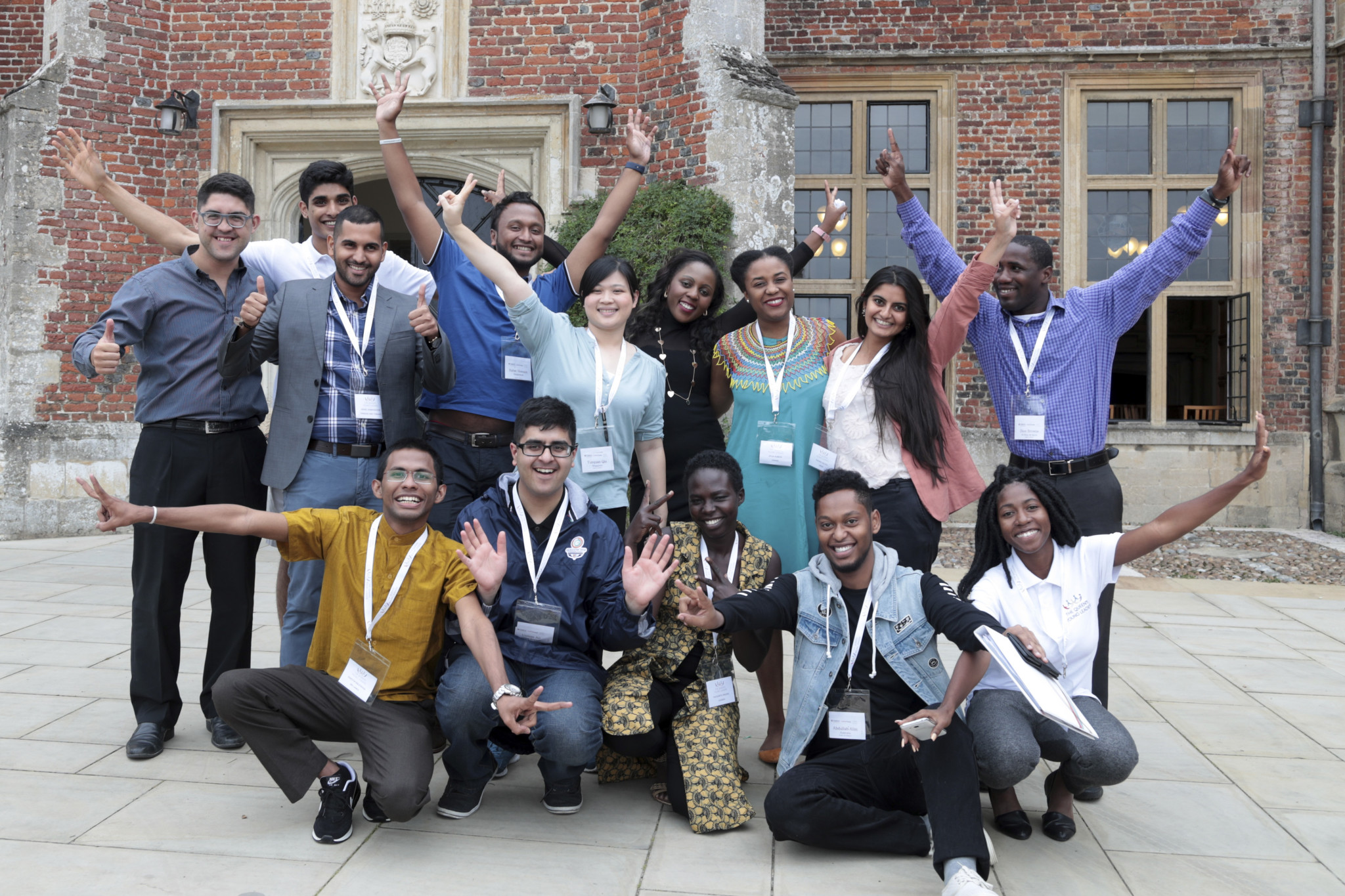 The 2017 Queens Young Leader award winners visit Cambridge University