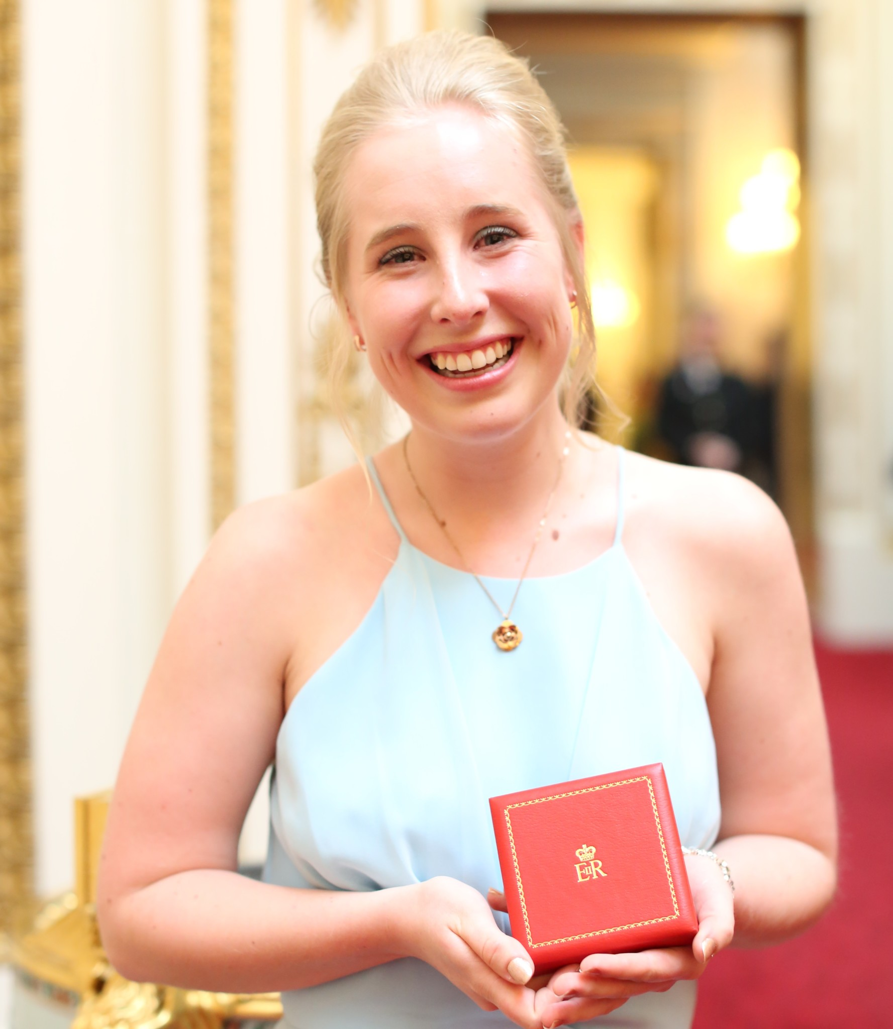 The 2017 Queen's Young Leaders recieve their award from her majesty the Queen at Buckingham Palace.