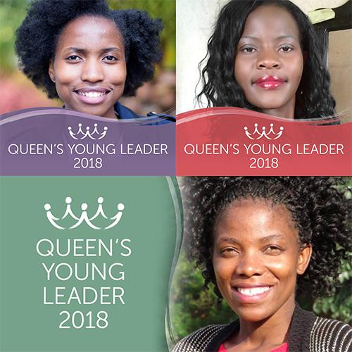 Introducing Queen's Young Leaders Reekelitsoe, Chikondi and Pilirani