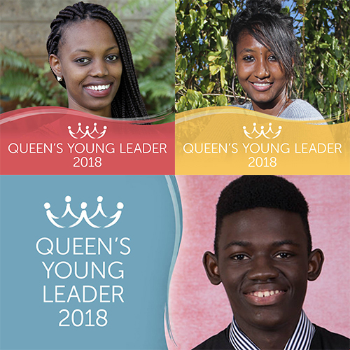 Introducing Queen's Young Leaders Priscilla, Anael and Brima