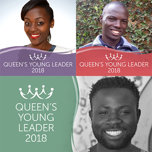 Introducing Queen's Young Leaders Elizabeth, Stephen and Gift