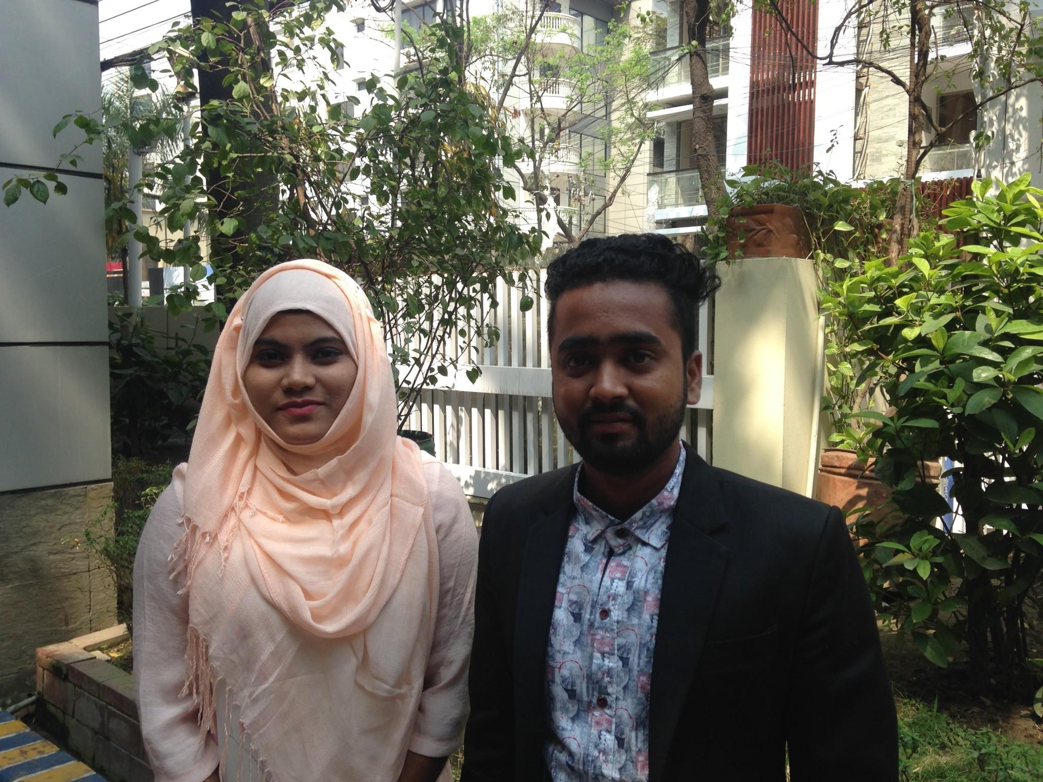 Jasmin Uddin Monna, Field Facilitator & Asma Min Hosan, Senior Response Officer at Rohingya Refugee Crisis Response