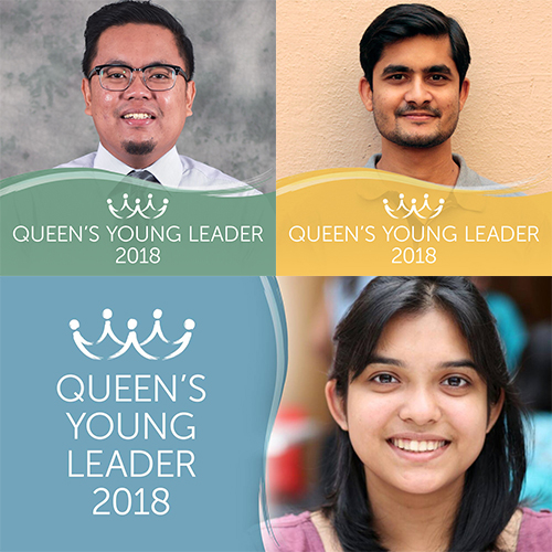 Introducing Queen's Young Leaders Ahmad, Aditya and Deane