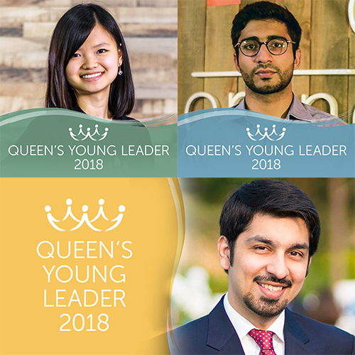 Introducing Queen's Young Leaders Wen Shin, Haroon and Hassan