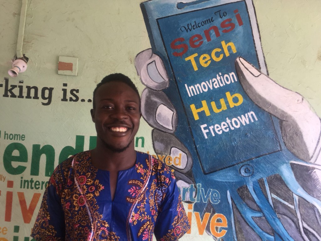 Morris Marah, founder and director of Sierra Leone's Sensi Tech Innovation Hub