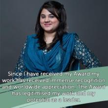 2016 Queen's Young Leader Zainab Bibi on how winning the Award has helped her work progress #QYLLegacy #QueensYoungLeaders
