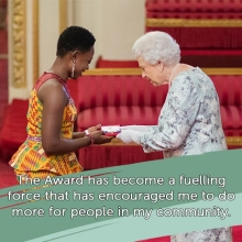 2017 #QueensYoungLeader Winnifred Selby on the impact winning the Award has had on her and her work #QYLLEGACY