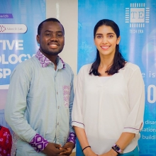 2018 #QueensYoungLeaders Derick and Mida are working together to address the barriers to education and employment for young people living with disabilities by creating 3D prosthetics.  To support their work, Derick and Midia received a #QueensYoungLeaders Legacy Fund grant which will allow them to continue develop 3D-printed solutions that can be scaled and mass produced to empower more young people.  #QYLLegacy #ChangeMakers #YoungChangeMakers #Education #Employment #Commonwealth