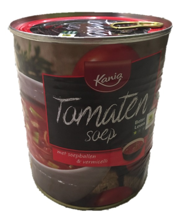Tomatensoep met soepballen & vermicelli  (blik, 0.8L)
