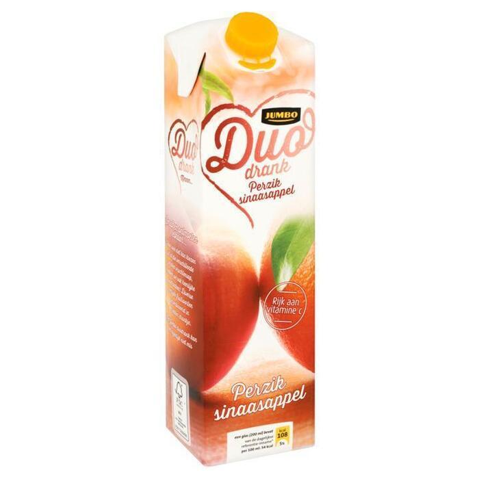 Jumbo Duo Drank Perzik Sinaasappel 1L (1L)