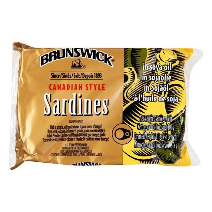 Brunswick Sardines in soja olie (106g)