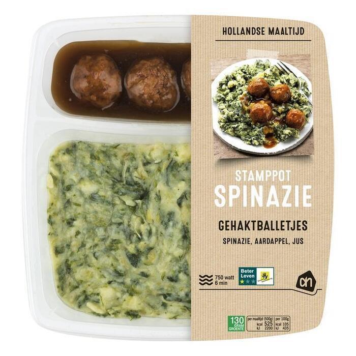 AH Hollandse stamppot spinazie (500g)