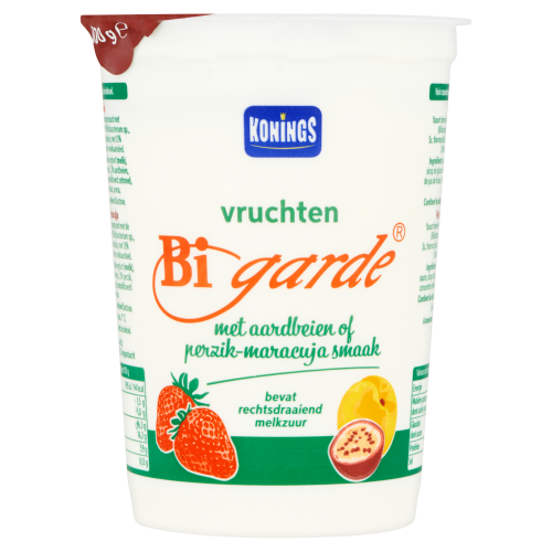 Konings Bigarde Vruchten met Aardbeien of Perzik-Maracuja Smaak 500 g (500g)
