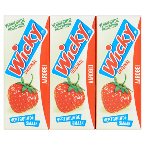 Wicky aardbei 15x0,2L (15 × 3L)