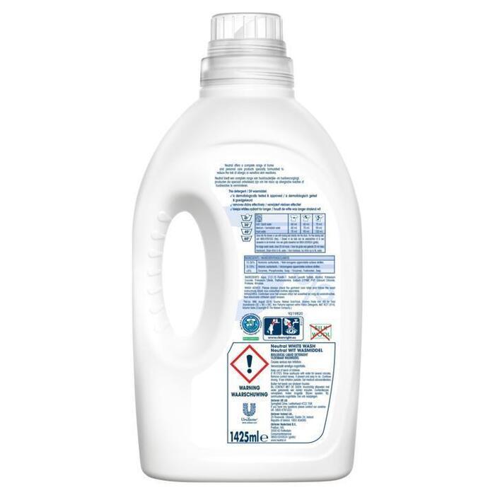 Wasmiddel vloeibaar parfumvrij wit (Stuk, 1L)