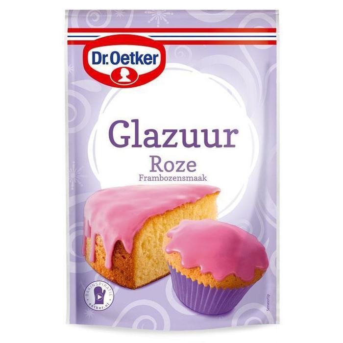 Dr. Oetker Glazuur roze (Stuk, 125g)