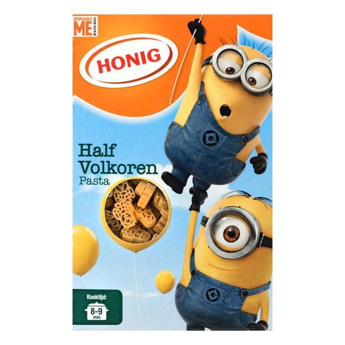 Honig Half Volkoren Pasta 350 g (Stuk, 350g)