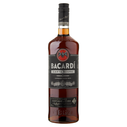 Bacardí Carta Negra Rum 1000 ml (1L)