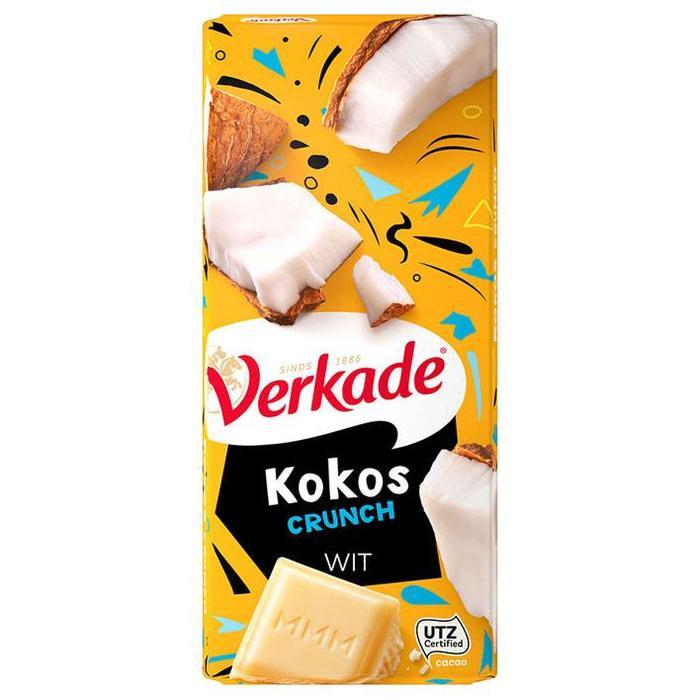 Verkade Kokos Crunch Wit 111 g (Stuk, 111g)