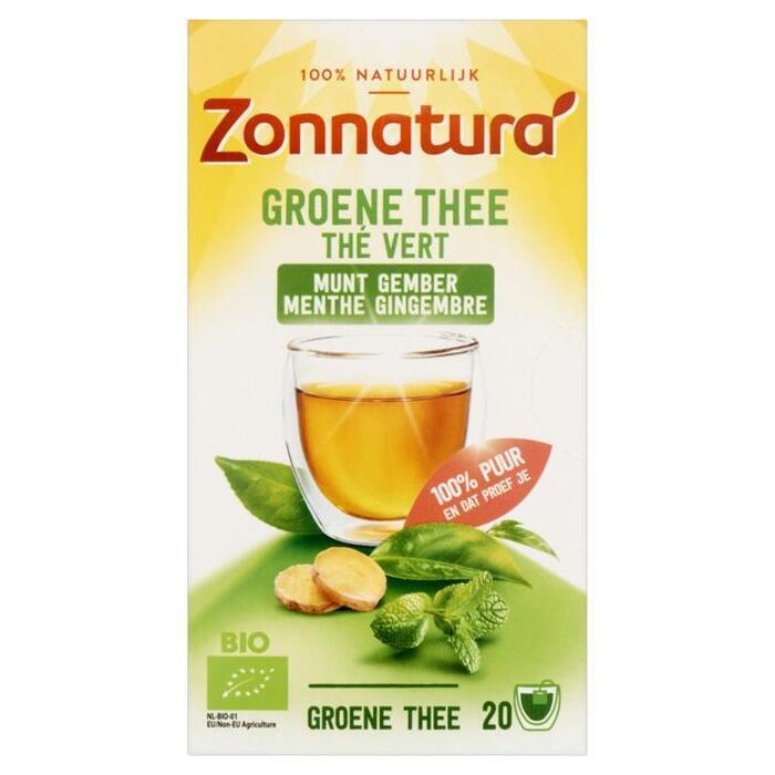 Zonnatura Azië groene thee gember pepermunt (20 × 40g)