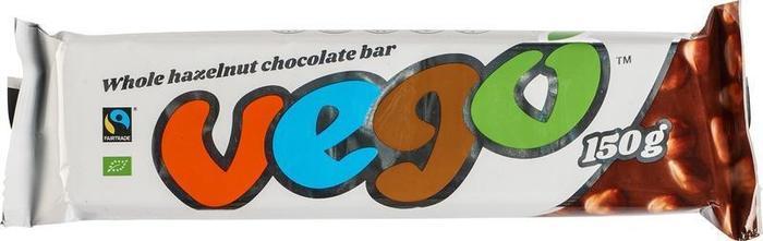 Whole hazelnut chocolate bar (150g)
