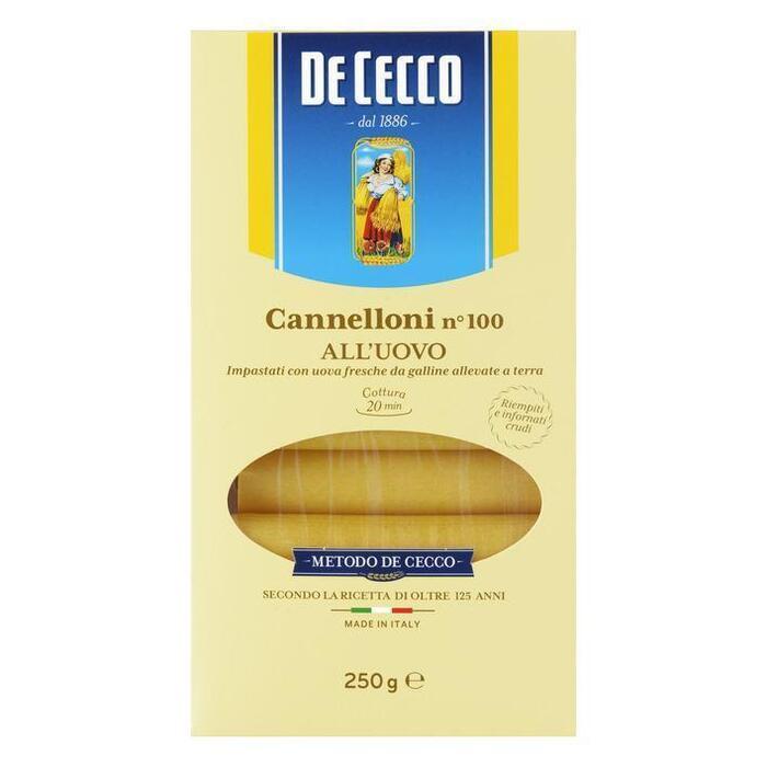 De Cecco Cannelloni all'uovo n° 100 (250g)