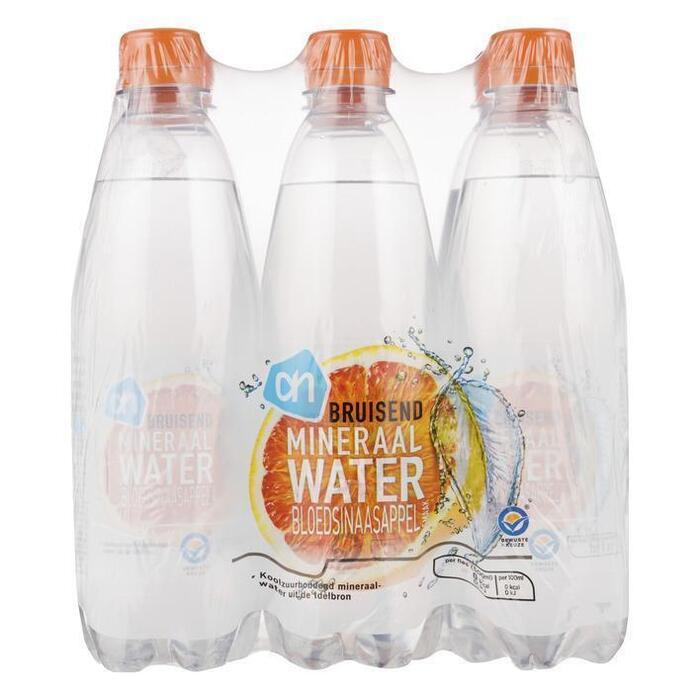 AH Bruisend mineraalwater bloedsinaasappel (pet fles, 6 × 0.5L)