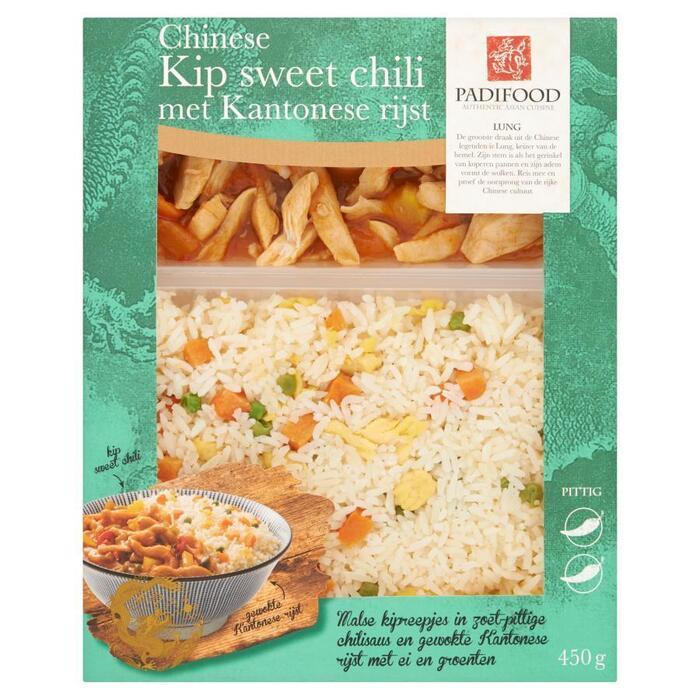 Padifood Chinese Kip Sweet Chili met Kantonese Rijst 450 g (Stuk, 450g)